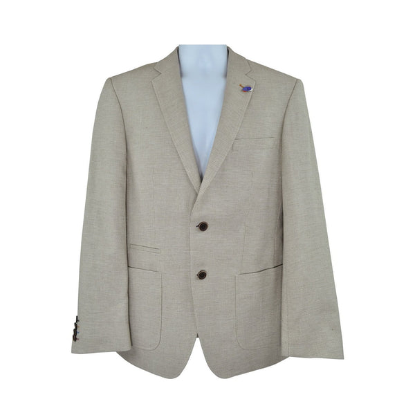 Roy Robson light beige suit jacket size 48 RRP290 GRA2
