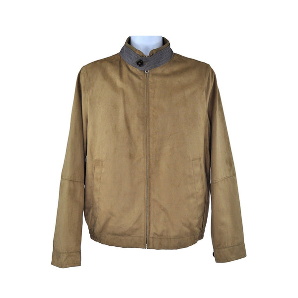 Digel Brown casual leather suede jacket size 46 RRP250 GRA2