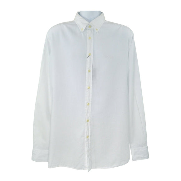 Hackett white long sleeve shirt XXL RRP85 DAR239