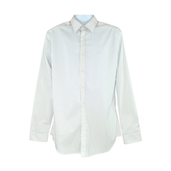 Paul Smith long sleeve off white shirt size 17 RRP165 PO30