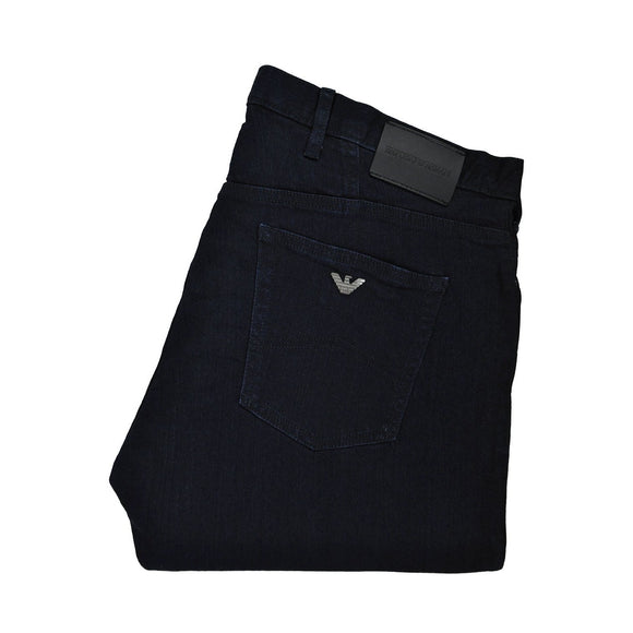 Emporio Armani dark navy washed denim jeans W38 RRP135 PU211