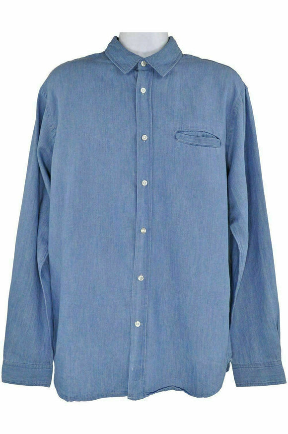 Edwin indigo blue long sleeve shirt style better shirt XLarge RRP100 RETMAR