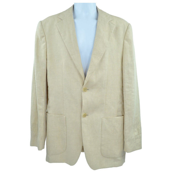 Hugo Boss Cream Linen Jacket 48 RRP300 ROCT
