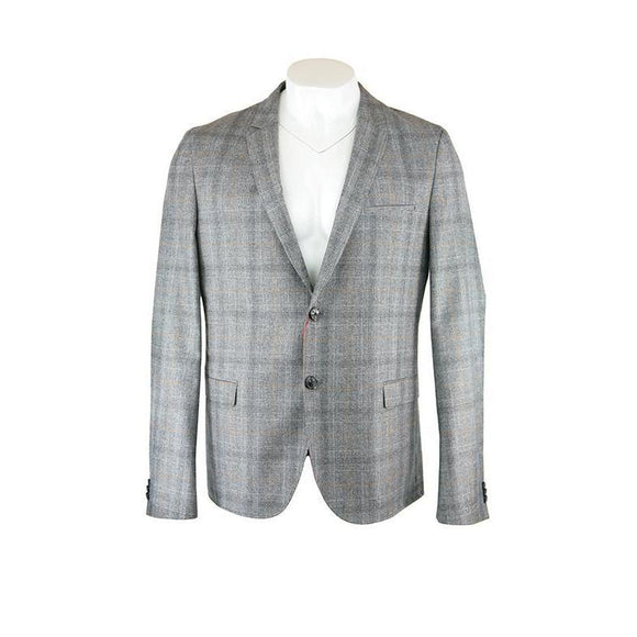 Hugo Boss Medium Brown Check Jacket RRP200 Size XXL DRAIL