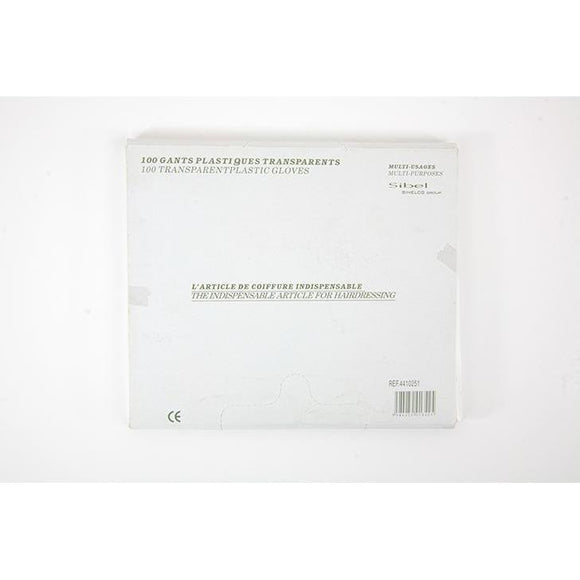 Sinelco Hairdressing Clear Disposable Gloves x100