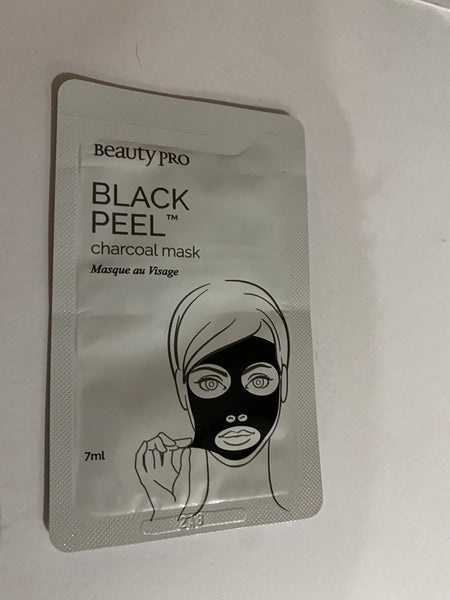 Job Lot of 100 Beauty Pro Black Peel Charcoal Mask 7ml sachet
