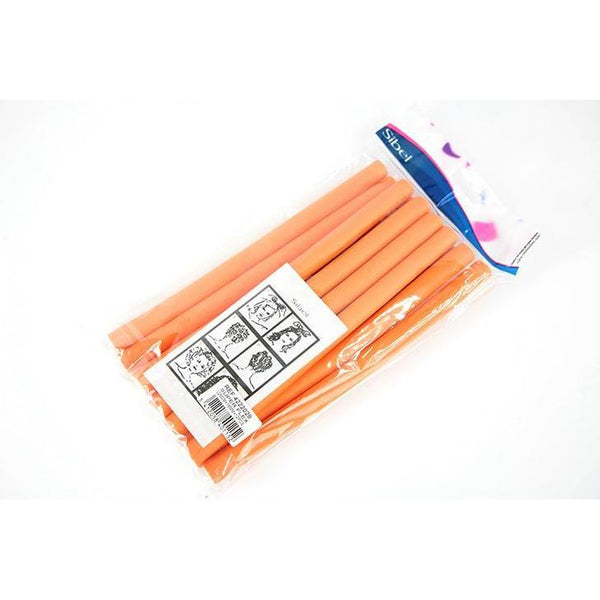 Sibel Super Flex Orange Hair Rollers 250x16mm 12 Pc