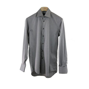 Pockets Branded Grey Striped Shirt Size 38 RRP40 PO02