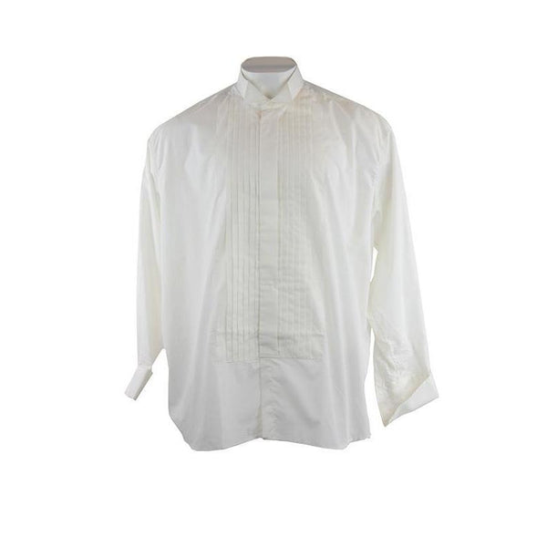 Frederick Theak Long Sleeve Off White Dress Shirt Size 37 RRP80 PO02