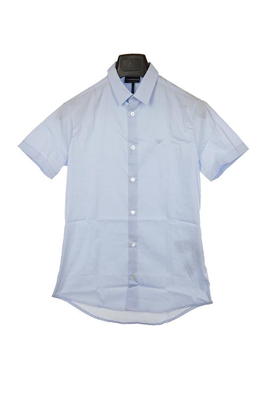 Emporio Armani light blue short sleeve shirt size S RRP80 PUR207