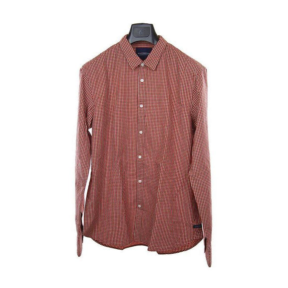 Scotch and Soda red gingham check long sleeve shirt XL RRP95 PUR206