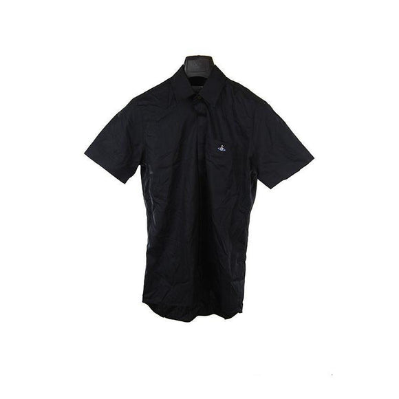 Vivienne Westwood black short sleeve polo top M RRP145 DAR236A