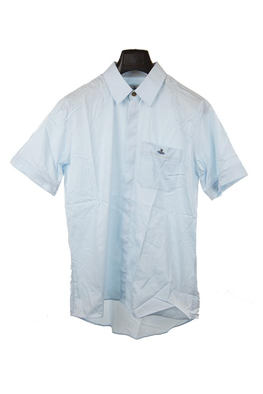 Vivienne Westwood light blue short sleeve shirt XL RRP180 DAR236