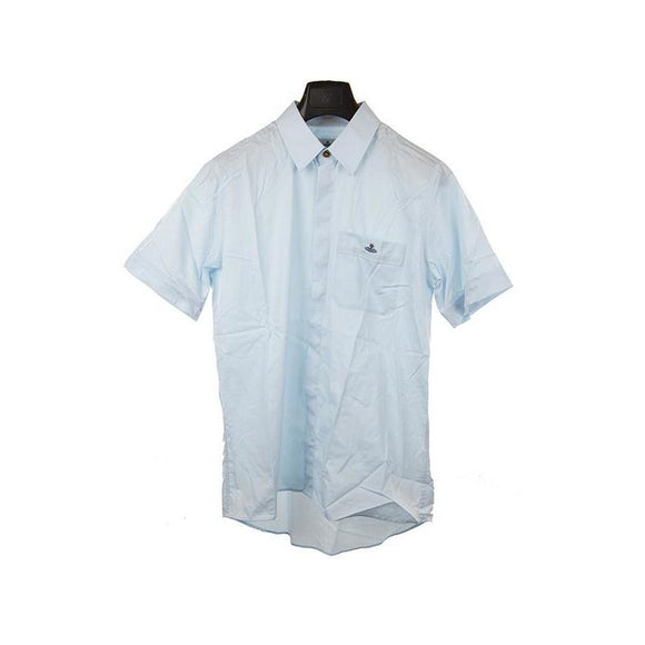 Vivienne Westwood light blue short sleeve shirt XS RRP180 DAR236A