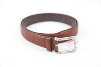 Dents dark red leather belt size M RRP39 H13