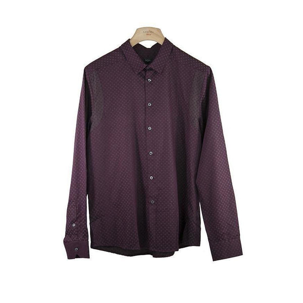 Paul Smith Slim Fit Purple Long Sleeve Shirt XL RRP160 ROCT