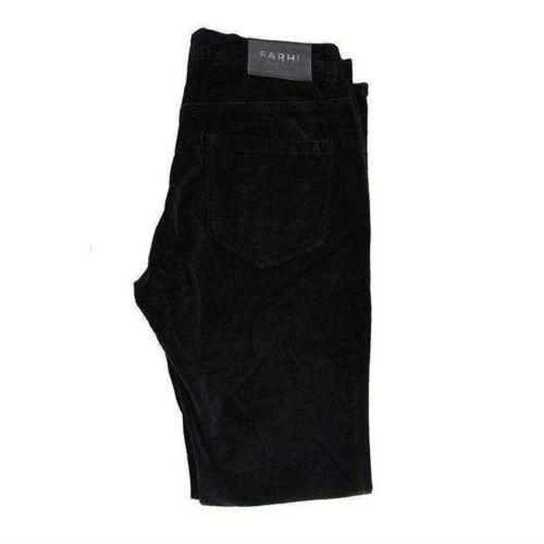 Nicole Farhi Ladies Black Suede Cotton Trouser Size UK10 RRP125 RJ