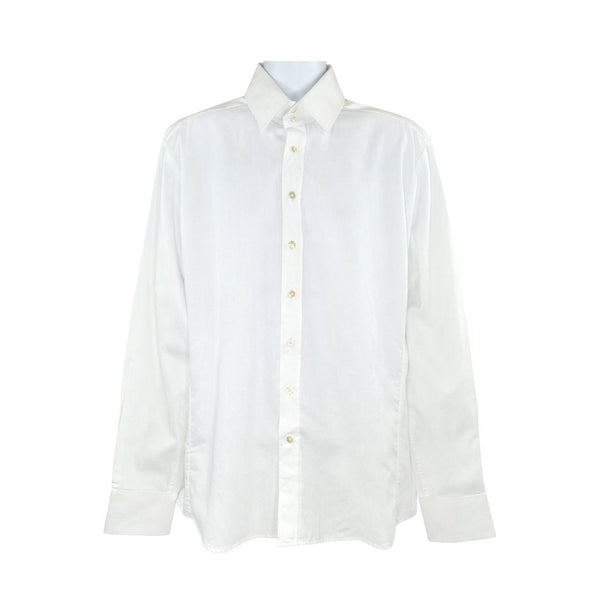 Without Prejudice white long sleeve shirt size 17.5 RRP90 RT