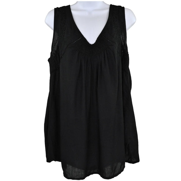 2 Chillies Black Sleeveless Top Size UK12 RRP40 SHA11