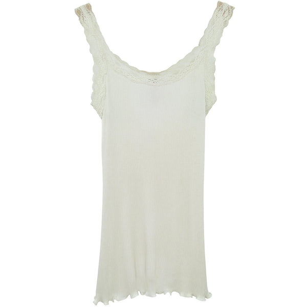 Bombyx and Sindon Cream Vest With Lacy Straps Size XL RRP20