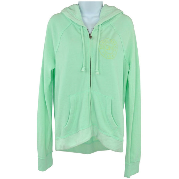 Gilly Hicks Mint Green Hooded Womens Top Size L RRP50