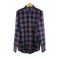 Tommy Hilfiger blue red birgen check long sleeve shirt M RRP100 RTJAN