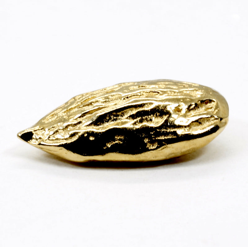 Small 14kt Vermeil Gold Almond Tie Tack or Lapel Pin