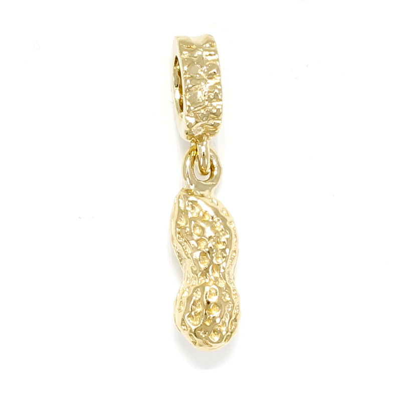 14kt Gold Vermeil Whole Peanut Slide Charm