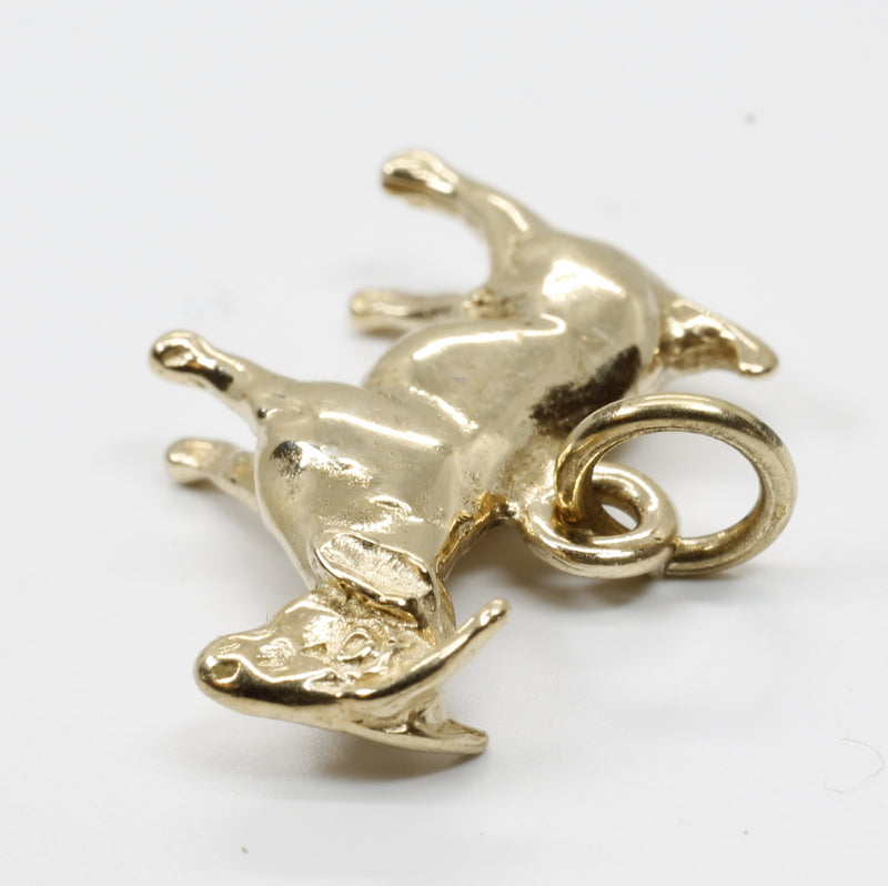 Goat Charm for her with a 14kt Solid Gold Boer Goat Charm