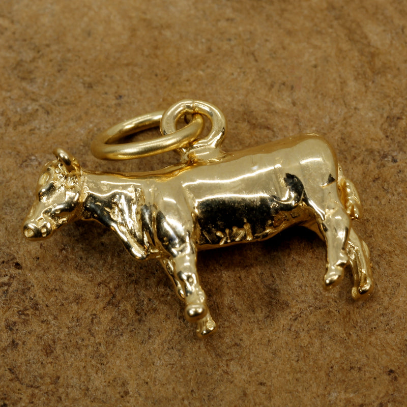 Show Heifer charm gift for her with a 14kt Solid Gold Heifer Charm for Rancher