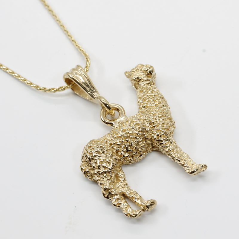Alpaca Necklace for Her with a Solid 14kt. Gold Large Huacaya Alpaca