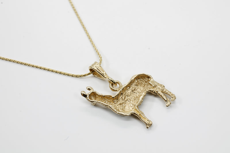 Gold Llama Necklace in 14kt solid yellow gold for Llama Lover ON SALE FOR $200. 00 OFF