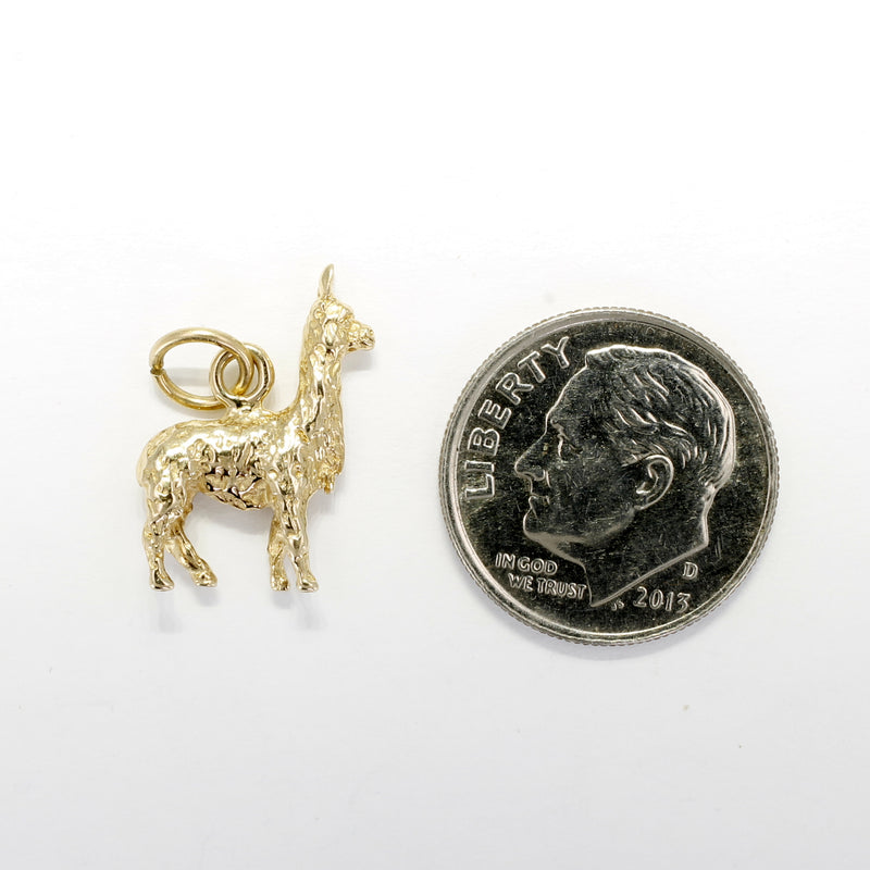 Suri Alpaca Charm made in solid 14kt yellow gold ON SALE FOR $50.00 OFF