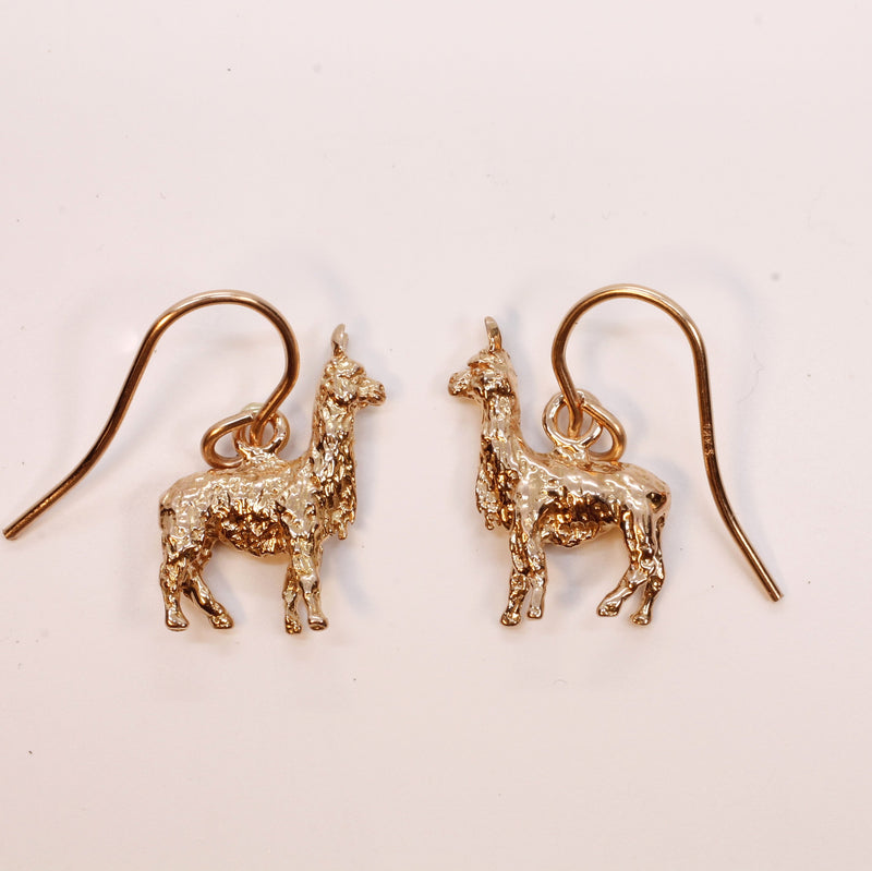 14kt Rose Gold Alpaca Earrings in solid 14kt Rose Gold for her