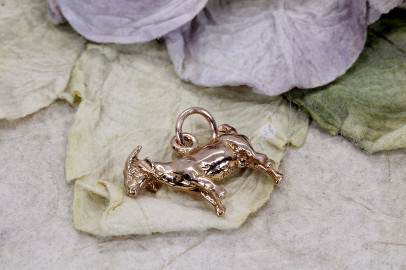 Rose Gold Goat Charm for her with a 14kt Solid Rose Gold Boer Goat