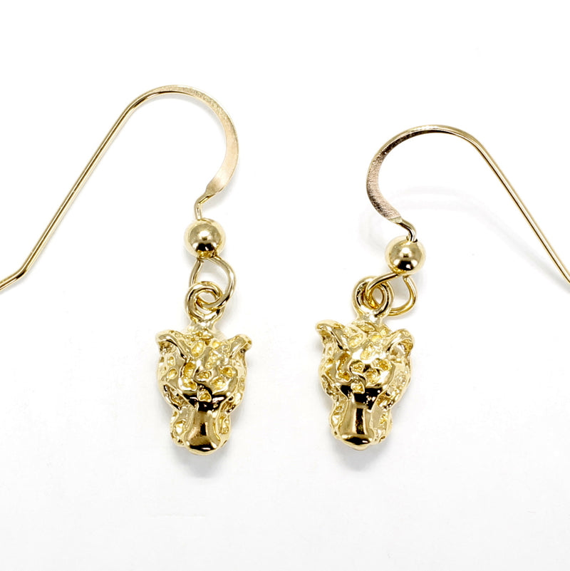 Small Leopard Head Dangle Earrings