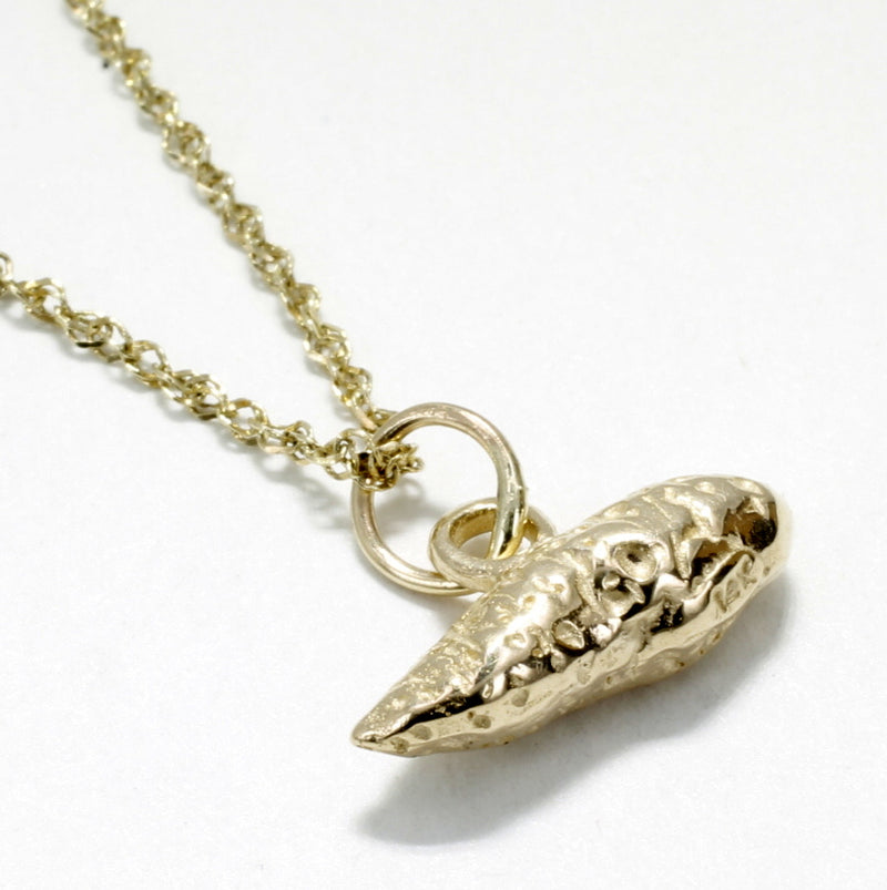 14kt solid gold sweet potato necklace