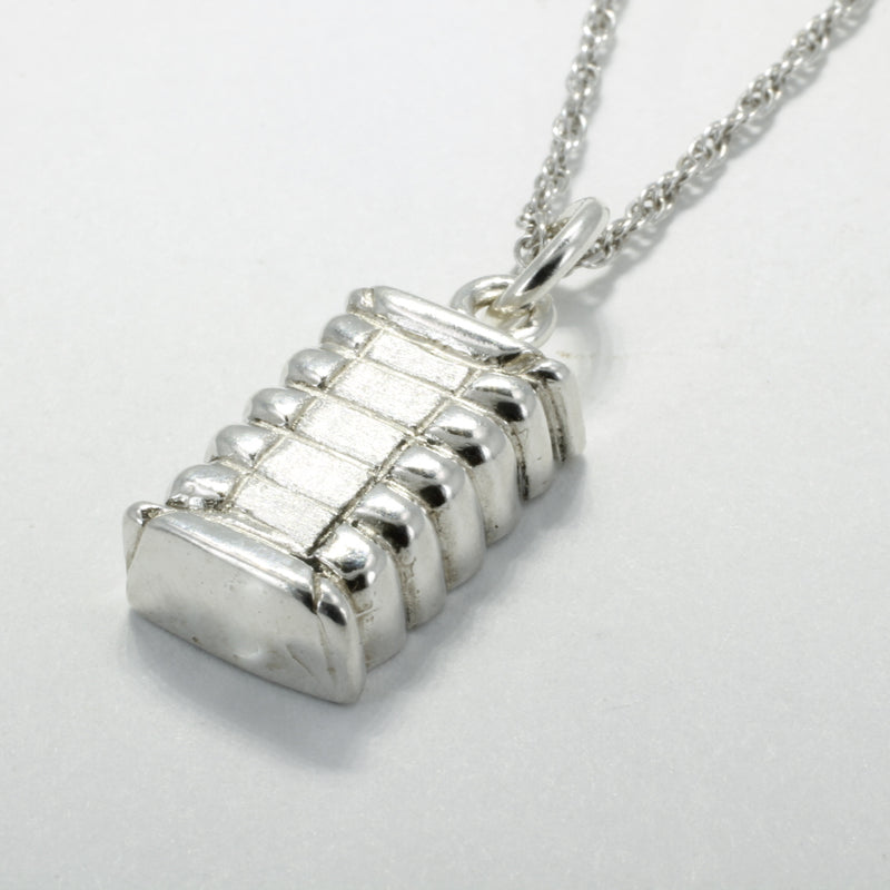 925 sterling Silver cotton bale necklace