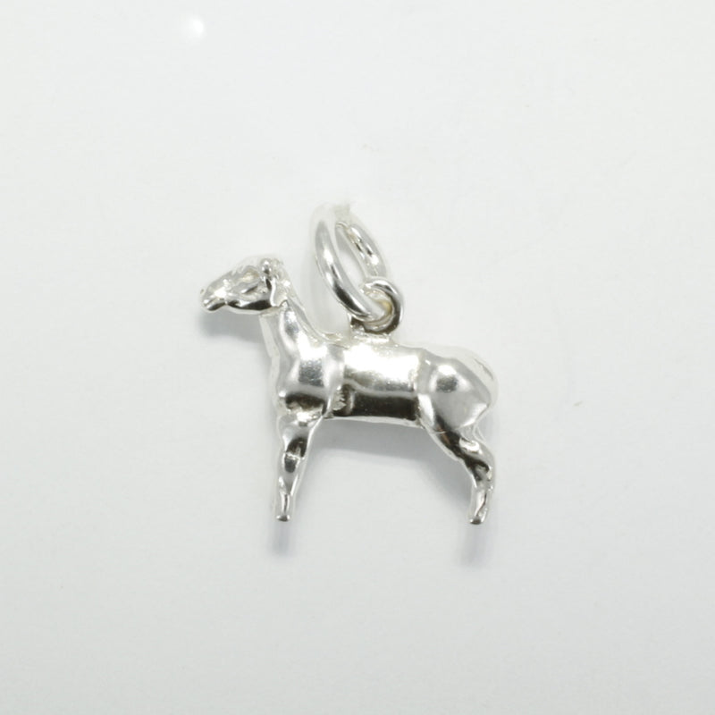 925 sterling silver full body lamb charm