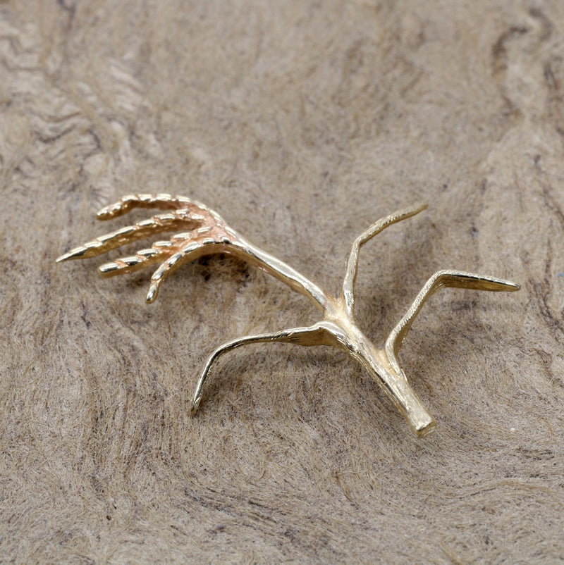 14kt Gold Rice Stalk Tie Tack for Him or Brooch Pin For Her