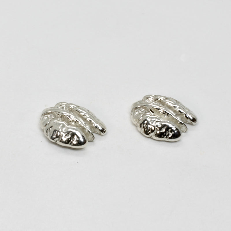 Tiny 925 Sterling Silver Pecan Stud Earring