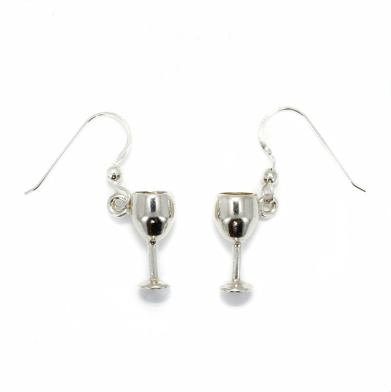 Wine Glass Earrings, 925 Sterling Silver Wine Glass Earrings, Gift mom, Wine Lover Gift, wine earring gift for wife, wine charm earrings