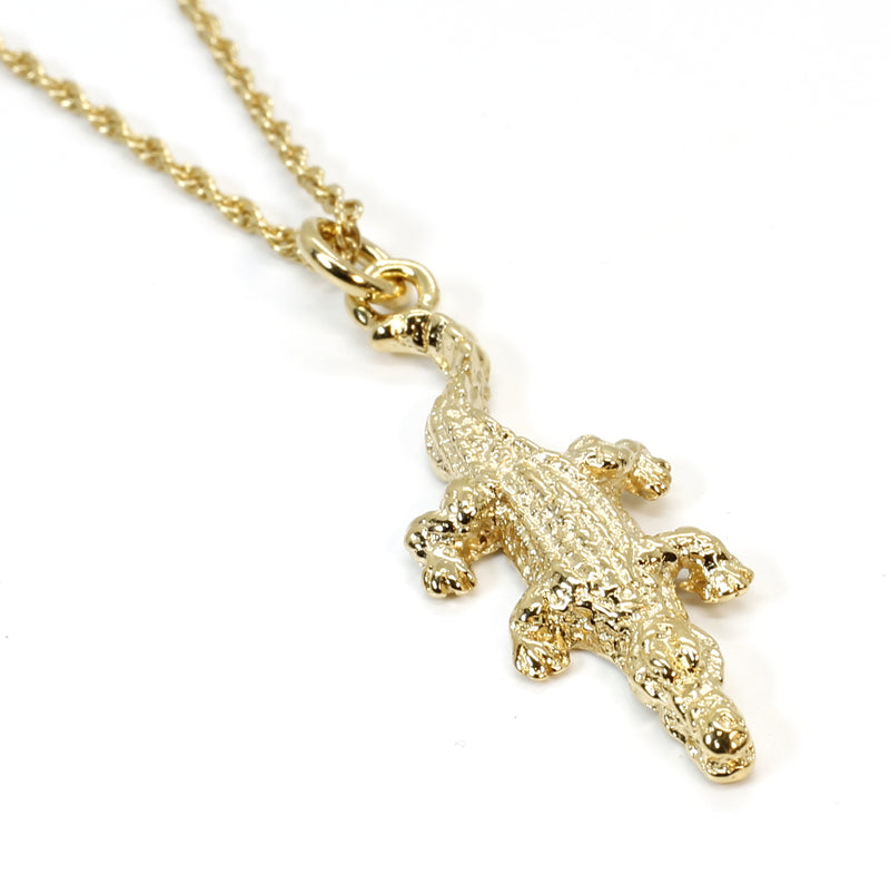 Small Alligator Necklace in 14kt Yellow Gold Vermeil