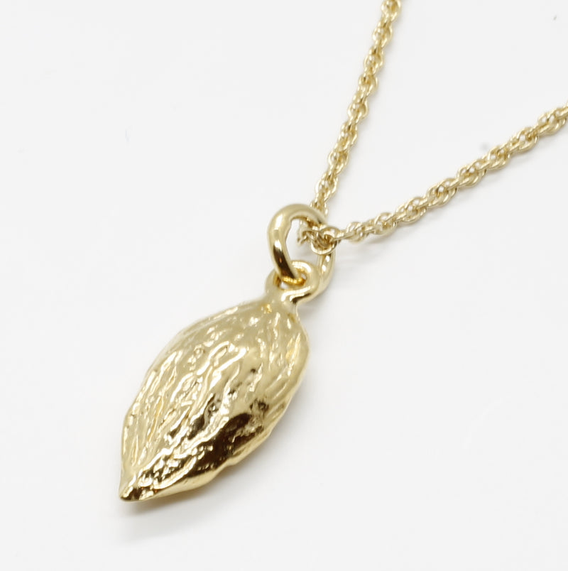 14kt Gold vermeil small almond Necklace for Her