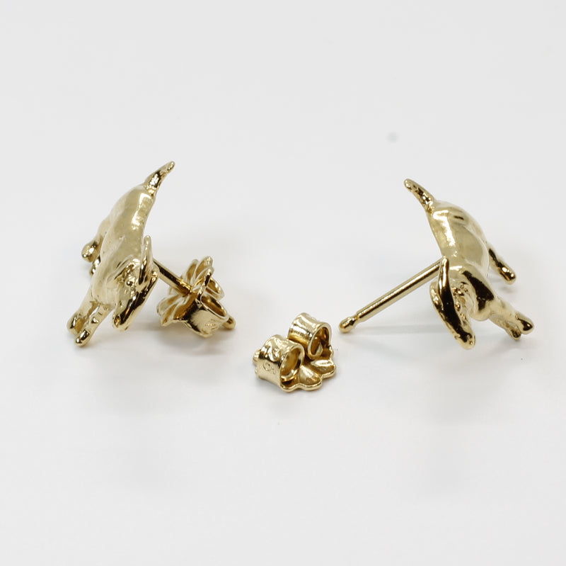 Goat Earrings in 14kt Gold Vermeil Small Boer Goat Stud Earrings