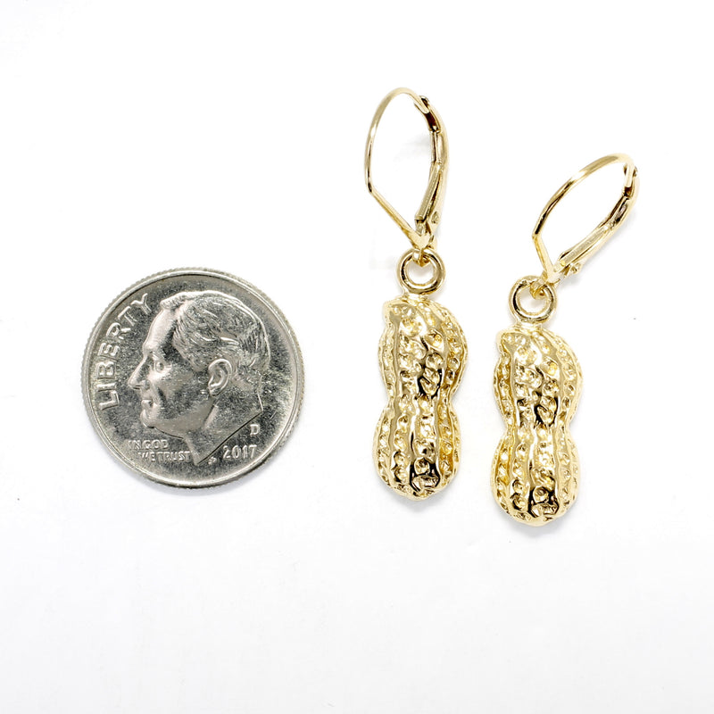 14kt Gold Vermeil Dangle Earrings in half shell design