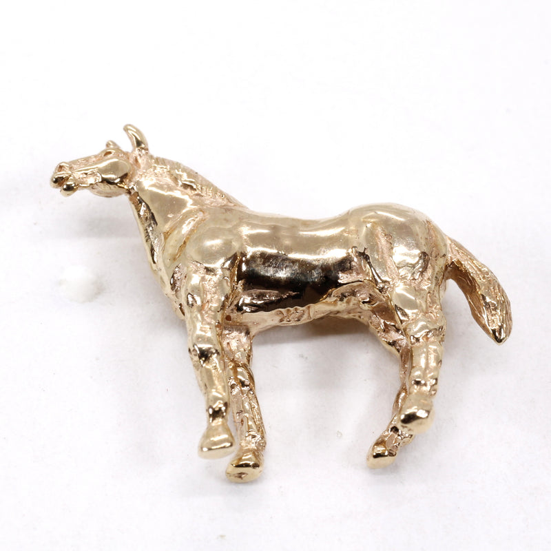 Horse Tie Tack or Pin for him or her with 14kt solid gold Quarter Horse