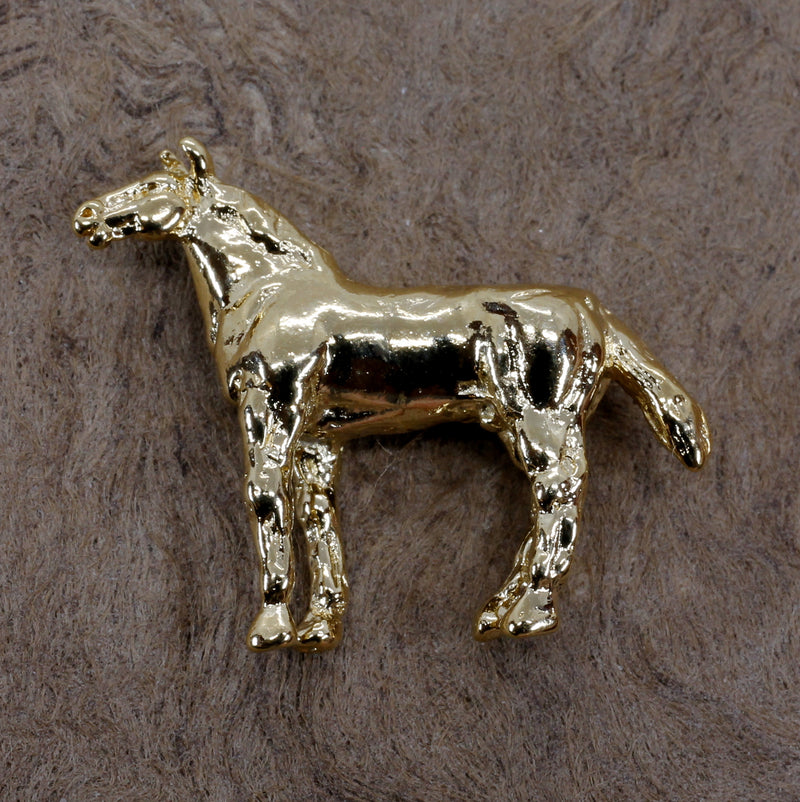 Gold Horse Tie Tack or Pin for him or her with Quarter Horse
