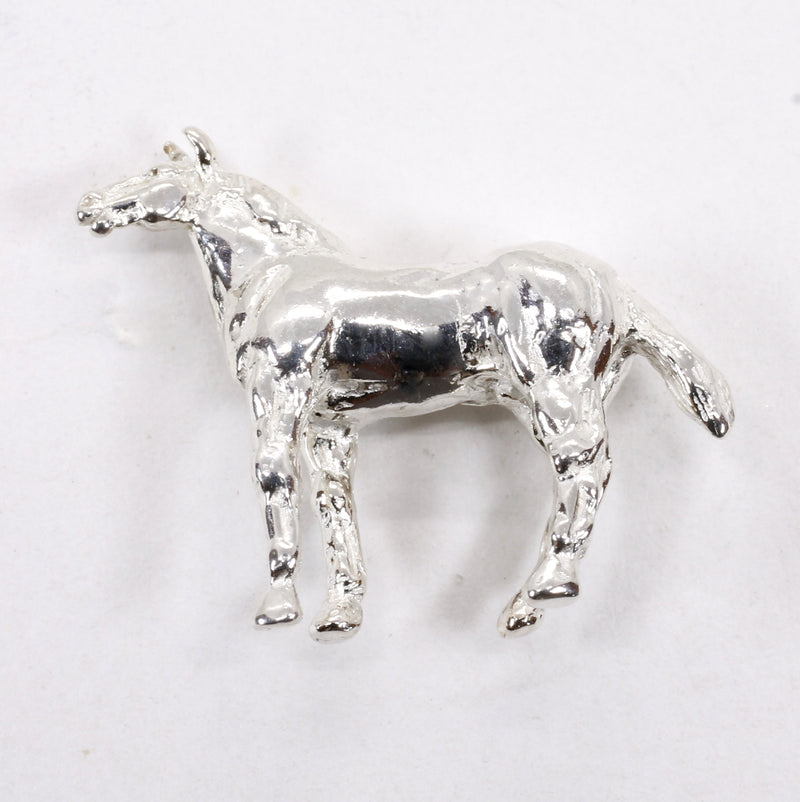 Silver Horse Tie Tack or Pin for him or her with Quarter Horse