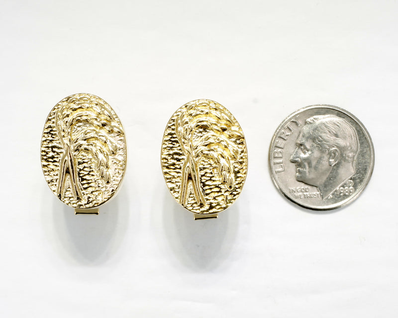 Gold Rice Cuff Links for him with 14kt Gold Vermeil Heads of Rice